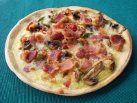 Bacon and Egg Pizza Recipe from UW Carbone Cancer Center