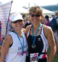 Diane at the Danskin Triathlon
