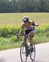 Diane during the Wisconsin Ironman Competition