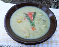 Cauliflower, Asparagus and Red Pepper Soup