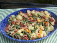 Green Beans, Bacon and Potato Salad, Donna's Dish of the Month