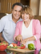 Happy older couple. SMART resolutions for the New Year