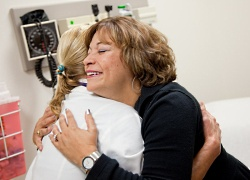 UW Health bone marrow transplant patient and nurse