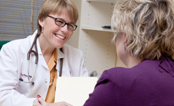 UW Health diabetes care team: Physician and patient talking