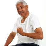 UW Health Diabetes Management: Man flexing his muscle