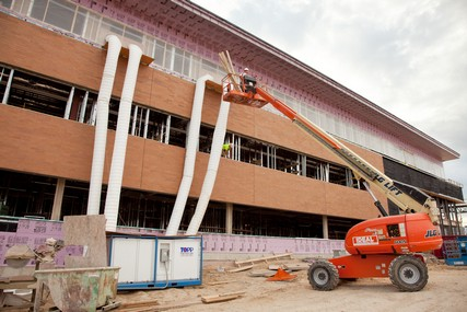 Progress on the new UW Health Digestive Health Center, which opened April 8, 2013. Photo from August 2012.