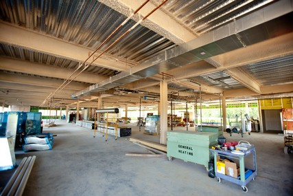 Progress on the new UW Health Digestive Health Center, which opened April 8, 2013. Photo from July 2012.