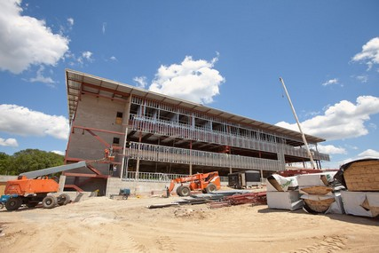 Progress on the new UW Health Digestive Health Center, which opened April 8, 2013. Photo from June 2012.