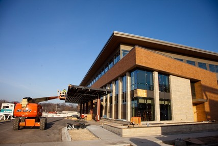 Progress on the new UW Health Digestive Health Center, which opened April 8, 2013. Photo from November 2012.