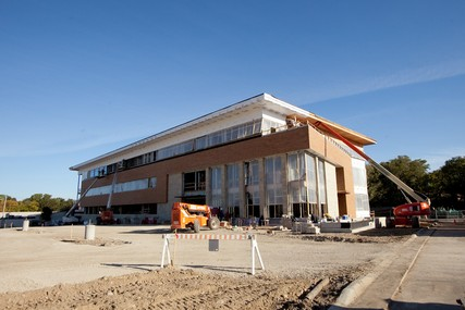 Progress on the new UW Health Digestive Health Center, which opened April 8, 2013. Photo from September 2012.