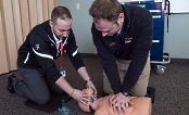UW Health Emergency Education Center: Two students in emergency education class
