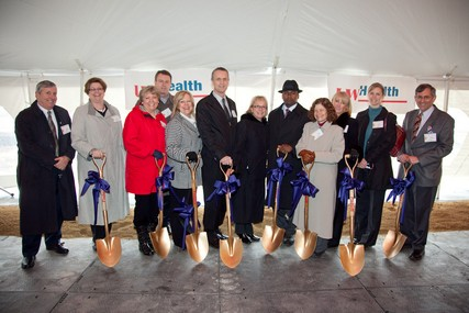 UW Health vide presidents at the groundbreaking ceremony for UW Health at The American Center.
