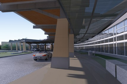 Parking options besides valet service will include a parking ramp off the east end of the building or surface parking in front.