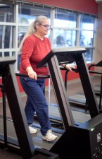 Diane Wixson on the treadmill