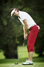 A person weighing 150 pounds will burn roughly 270 calories in 60 minutes of golf.