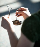 UW Health Integrative Health Mindfulness-based Stress Reduction: Woman ringing a bell