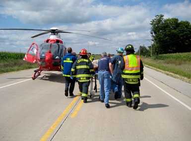 EMS programs - both professional and volunteer - are valued partners in Med Flight's work to quickly and safely get patients the care they need.