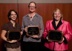 2011 UW Health Community Service Award recipients Rebeca Liebl, Sherri Zelazny and Darlene Helming