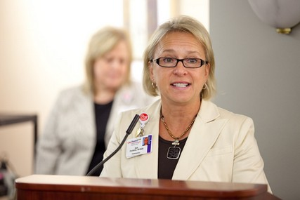 Beth Houlahan, Chief Nursing Officer and senior vice president for Patient Care Services, brought the DAISY Award program to UW Hospital and Clinics.