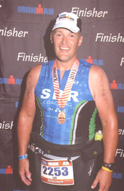 Dr. Lee Faucher after finishing the Ironman Wisconsin in 2011.