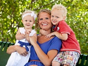 UW Hospital and Clinics Working Mother of the Year Christine Williams and her children.