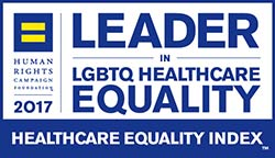 Leader in LGBTQ Healthcare Equality logo; UW Health; Madison, Wisconsin