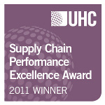 UW Hospital and Clinics won the UHC Supply Chain Performance Excellence Award in 2011