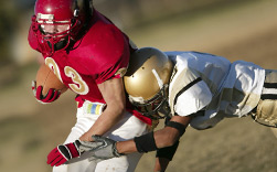 UW Health Sports Medicine concussion care: Two football players
