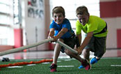 UW Health Sports Performance P.L.A.Y: Two kids playing tug-of-war
