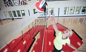 UW Health sports performance: Volleyball player at the net