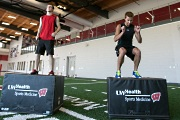 UW Health Sports Medicine Performance Spectrum: Two program participants, jumping