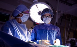 UW Health liver surgery minimally-invasive surgeries: Two surgeons in operating room