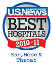 US News and World Report Best Hospitals: Ear, Nose and Throat