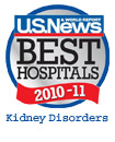 US News and World Report Best Hospitals: Kidney Disorders