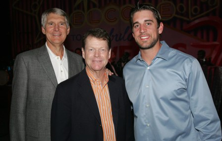 Andy North, Tom Watson and Aaron Rodgers