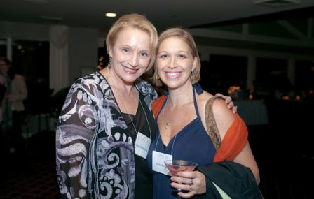Laura Clark Hansen and friend