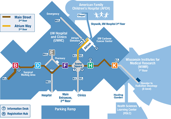 UW Hospital and Clinics Map