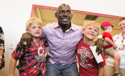 Donald Driver and friends at the open house for UW Health at The American Center
