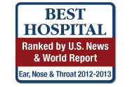U.S. News and World Report: America's Best Hospitals, Ear, Nose and Throat, Otolaryngology, 2012-13