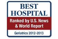 U.S. News and World Report: America's Best Hospitals, Geriatrics, 2012-13
