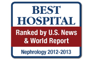 U.S. News and World Report: America's Best Hospitals, Kidney Disorders, Nephrology, 2012-13