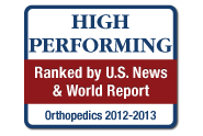 U.S. News and World Report: America's Best Hospitals, Kidney Disorders, Orthopedics, 2012-13