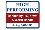 U.S. News and World Report: America's Best Hospitals, Urology, 2012-13