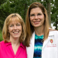 Shelly Casey with surgical oncologist Dr. Sharon Weber