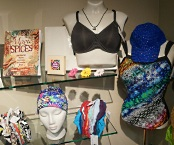 UW Carbone Cancer Center Care Wear scarves, hates and bras