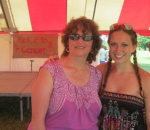 Becca Skowronski and her mom, Laurie, at Kick it to Cancer