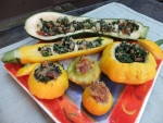 Stuffed Patty Pan Summer Squash