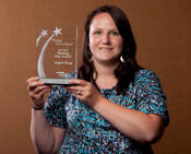 UW Medical Foundation Shining STAR recipient Angie Haas, Registrar Team Lead, Patient Business Services
