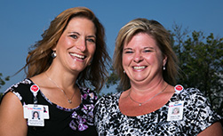 UW Medical Foundation's Deb Brausen, with friend and colleague Tracy Weber
