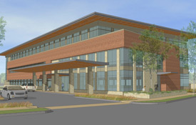 An artist's rendering of the new UW Health Digestive Health Clinic, which opened April 8, 2013